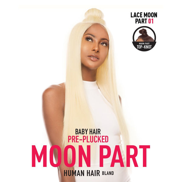 The Wig Moon Part 100% Human Hair Blend Lace Front Wig - LH MOON PART 01