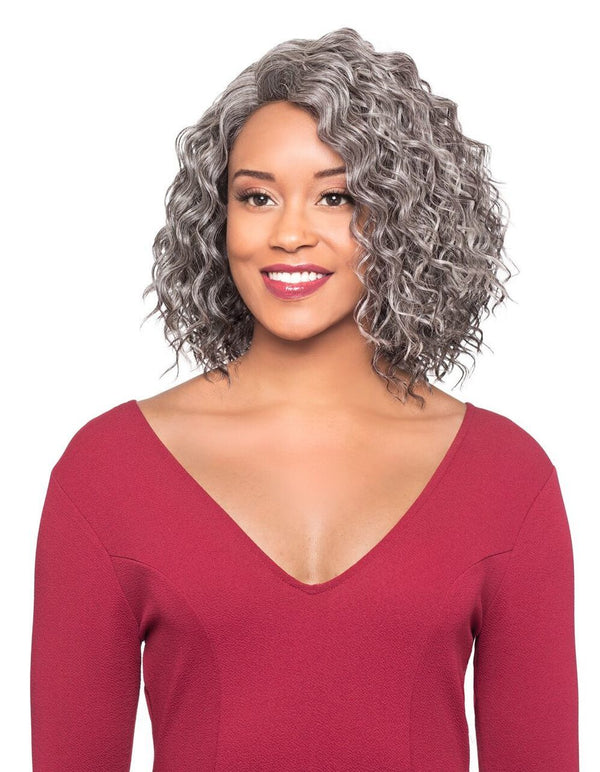 Foxy Silver Synthetic Wig - Nellie