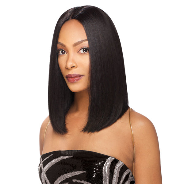 "Sensual Vella Vella Virgin Remi Human Hair 4.5"" Deep Part Lace Front Wig - STRAIGHT 14"""