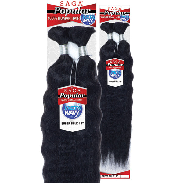 Saga Popular 100% Human Hair Braid (W & W) - SUPER BULK 18""