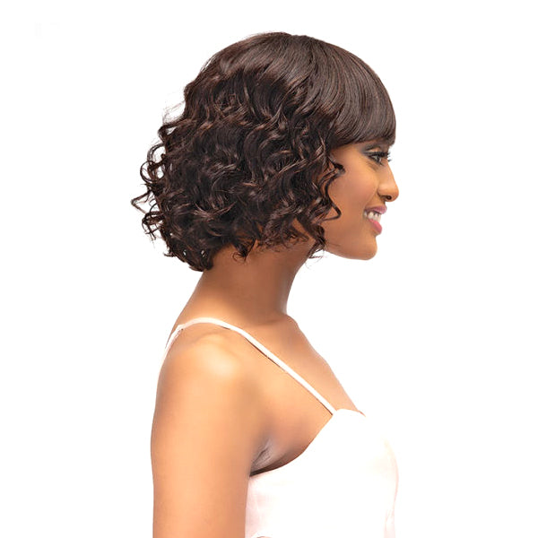 Janet Collection 100% Natural Brazilian Remy Bundle Hair Full Wig - NATURAL RITA WIG