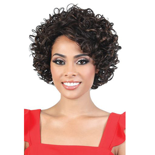 Motown Tress Silver Gray Hair Collection Synthetic Full Wig - S TISHA