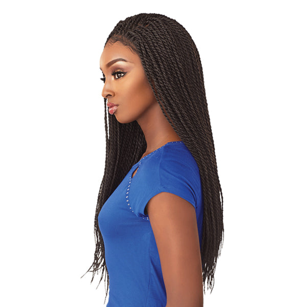 Sensationnel Cloud9 4X4 Multi Parting Swiss Lace Braid Wig - SENEGAL TWIST
