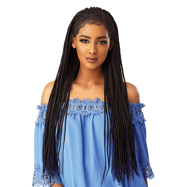 Sensationnel Cloud9 100% Hand - Braided 13X5 Parting Swiss Lace Wig - SIDE PART CORNROW