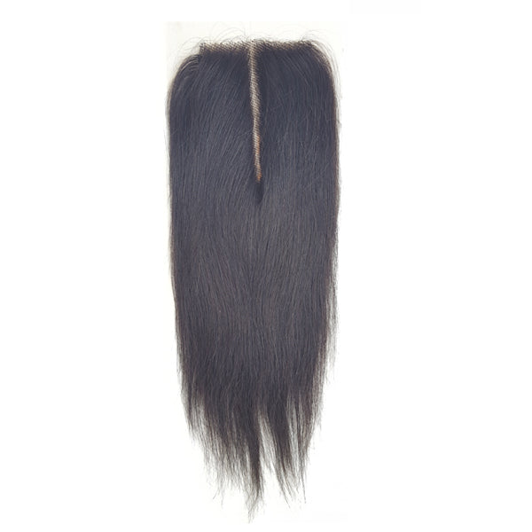 Lord & Cliff Unprocessed Virgin Hair Bleached Knots Deep Invisible Part Closure - STRAIGHT 14""