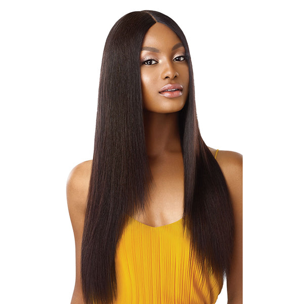Outre The Daily Wig Unprocessed Human Hair Lace Part Full Wig - STRAIGHT V-CUT 26""