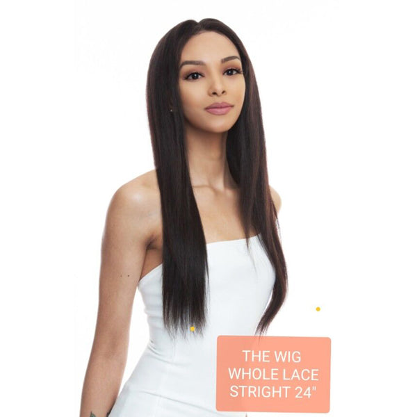 "The Wig Black Pink 100% Brazilian Remy Whole Lace wig - HBL WL- STRAIGHT 18"" 24"""
