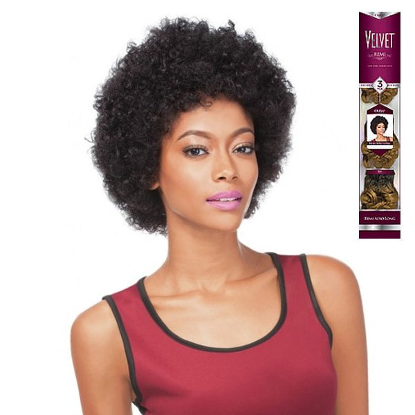 Outre Velvet Short Remi Afro Long 3PCS