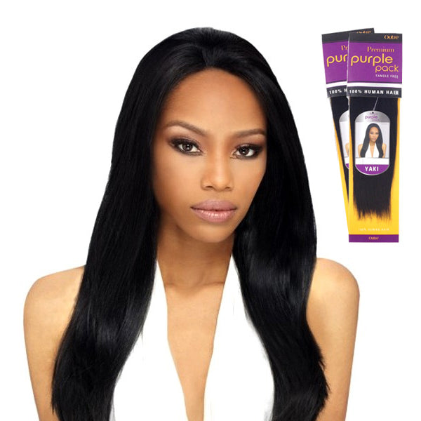 Outre Premium Purple Pack Human Hair Weave - Yaki - 12INCH