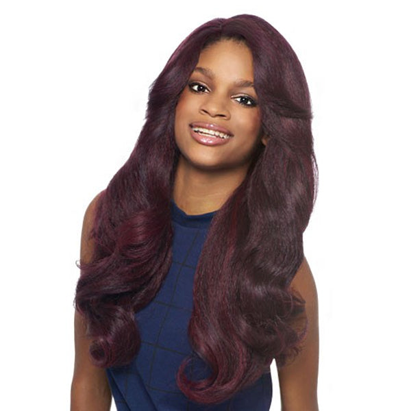 Outre Batik Bundle Hair L Part Lace Front Wig - Dominican Blowout Relaxed