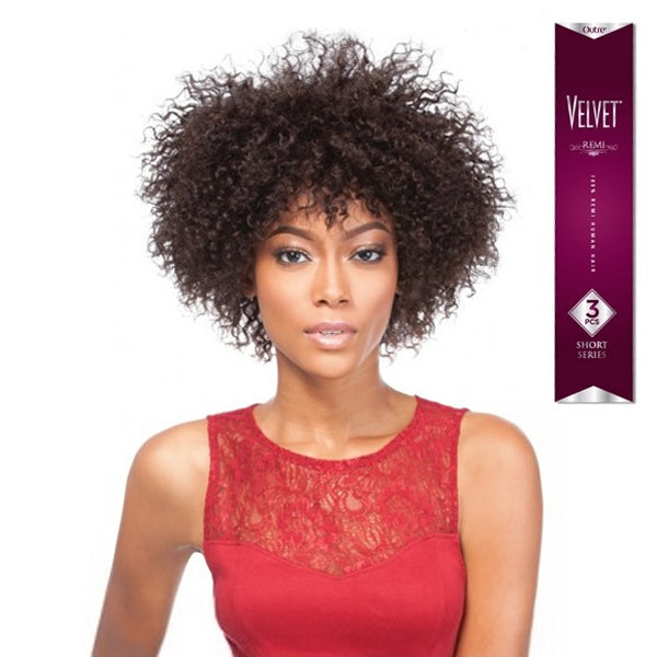 Outre Velvet Short Remi Jerry Curl 3PCS (BUY1 GET1 FREE)