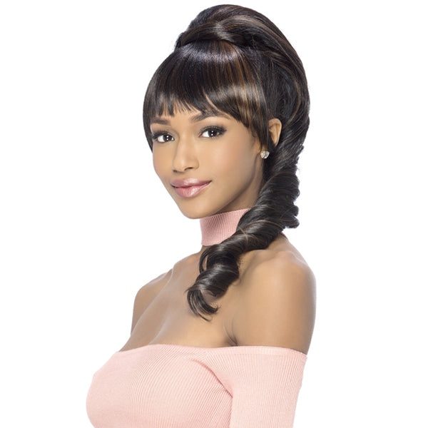 Vivica A Fox Synthetic Drawstring Two In One Bang & Pony - BP - CONEY