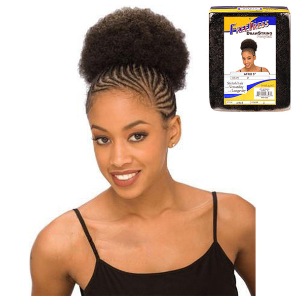 FreeTress Equal Drawstring Ponytail Afro 5""