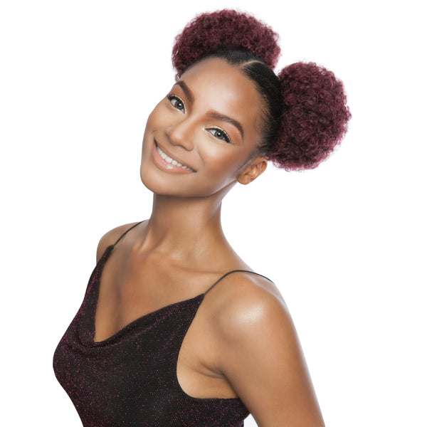 Mane Concept Yellow Tail Wrap & Tie Synthetic Ponytail - MINNIE AFRO LARGE