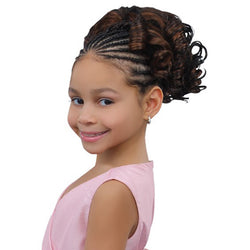 Sensual Pretty Girl Kids Drawstring Ponytail - Aquamarin