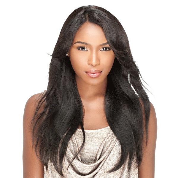 Sensationnel Brazilian Bare & Natural L Part Lace Front Wig - Natural Straight