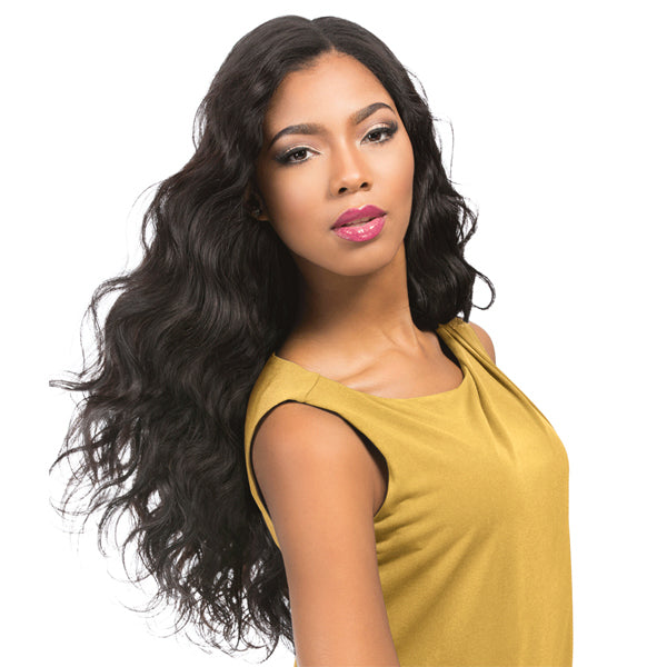 Sensationnel Empire 100% Human Hair 3 Way Part Lace Closure - BODY WAVE 12""