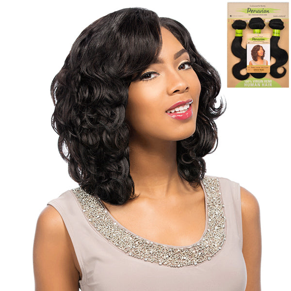 "Sensationnel Peruvian Virgin Remi Bundle Hair Bare & Natural - BODY WAVE 10""S 3PCS"