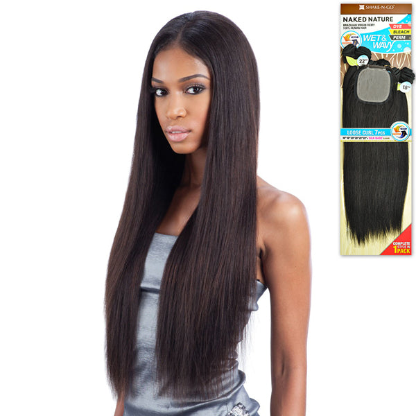 Naked Nature 100% Unprocessed Virgin Remi Brazilian Hair Wet & Wavy - Bohemian Curl 7PCS