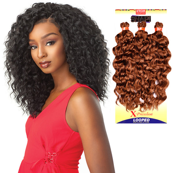 Sensationnel Synthetic Hair Snap! 3X Pre-Looped Crochet Braid - BRAID OUT 12""