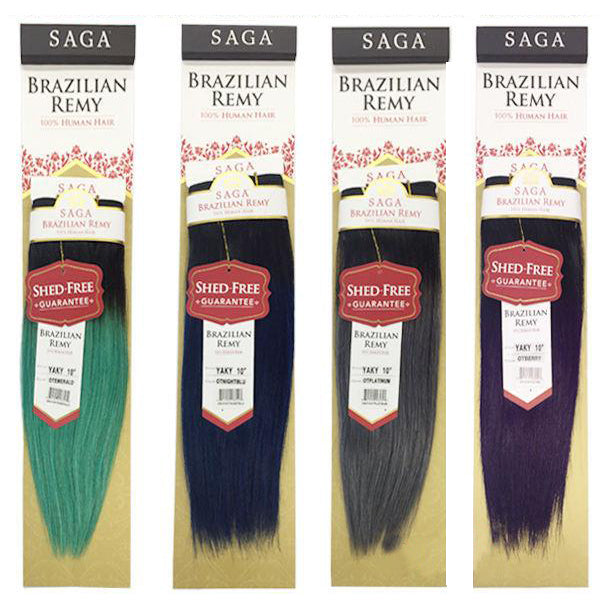 Saga Brazilian Remy Yaky Weave Special Colors Nyhairmall