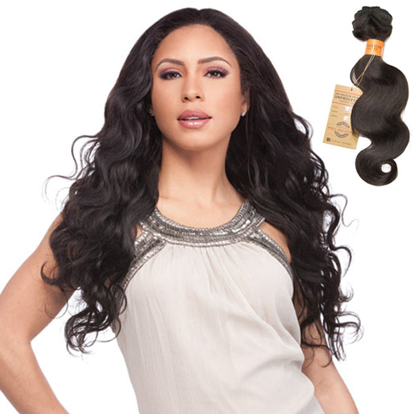 Sensationnel Brazilian Remi Natural Body wave bundle hair (UNPROCESSED HAIR) - Buy One Get One Free
