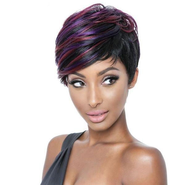 ISIS Mane Concept Brown Sugar Human Blend Full Wig - BS124