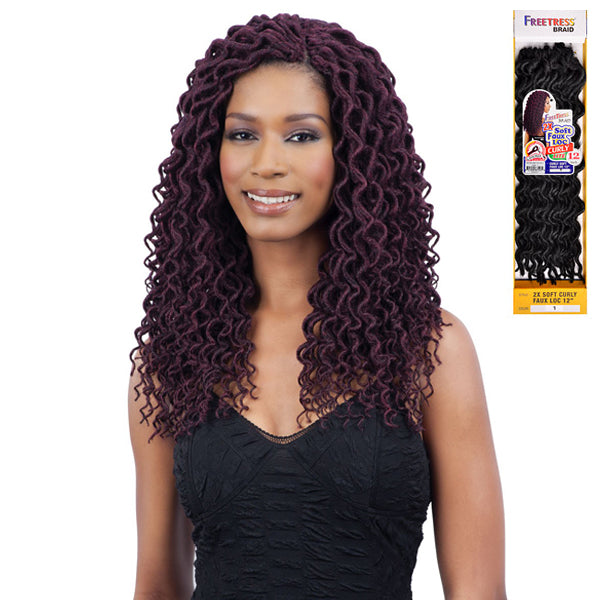 Freetress Equal Synthetic Braid - 2X SOFT CURLY FAUX LOC 12""