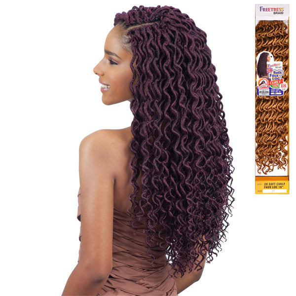 Freetress Equal Synthetic Braid - 2X SOFT CURLY FAUX LOC 18""