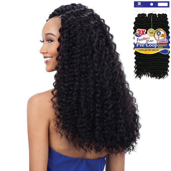 Freetress Equal Synthetic Flexi-lock Braid - 3X PRE-LOOP DEEP TWIST 16""