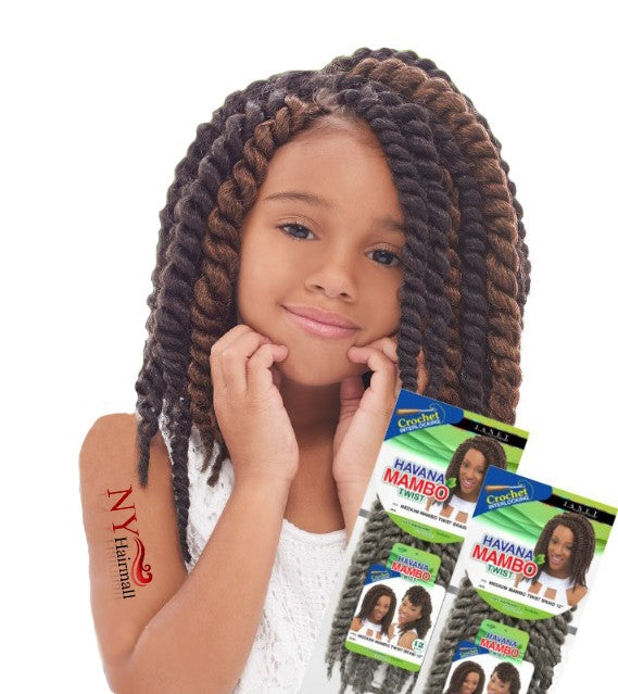 Janet Collection Noir Havana Medium Mambo Twist Braid 12""
