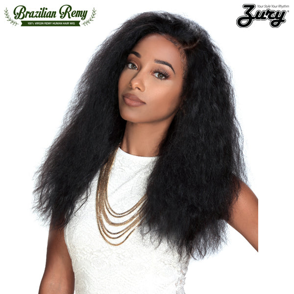 Zury Hollywood 100% Brazilian Human Hair Lace Front Wig - HRH BRZ LACE LIBRA (WET & WAVY)