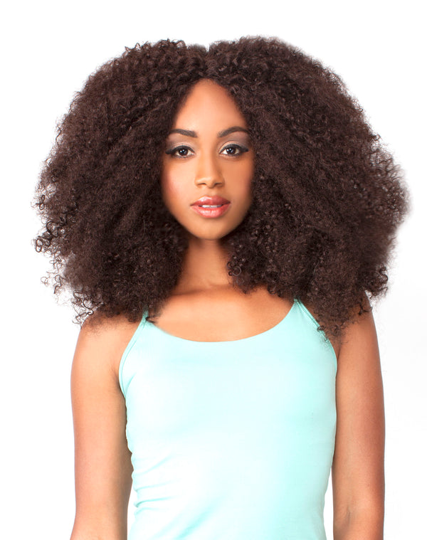 THE WIG HUMAN HAIR BLEND LACE FRONT WIG LH - AFRO KINKY