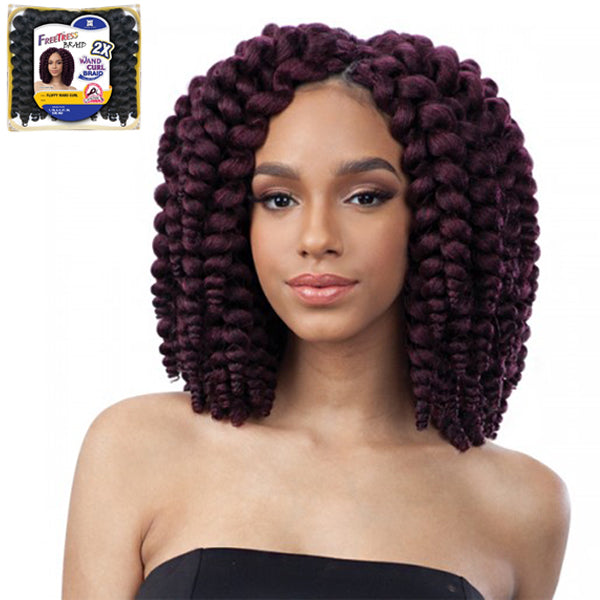 Freetress Wand Curl Braid Collection - 2X FLUFFY WAND CURL