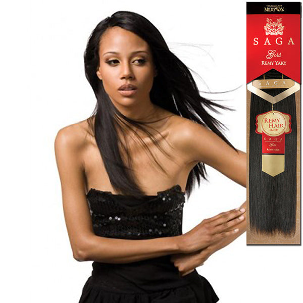 "MilkyWay SAGA Gold Remy Human Yaky Weave 10""s (BUY 1 GET1 FREE)"