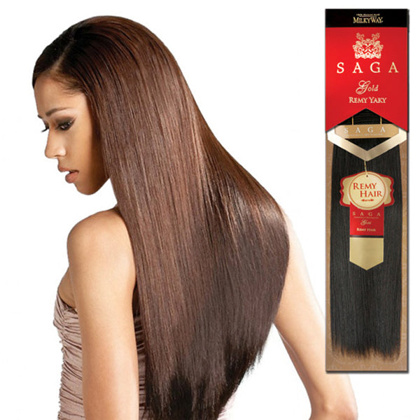 Milkyway Saga Gold Remy Human Yaky Weave 10s Buy 1 Get1 Free