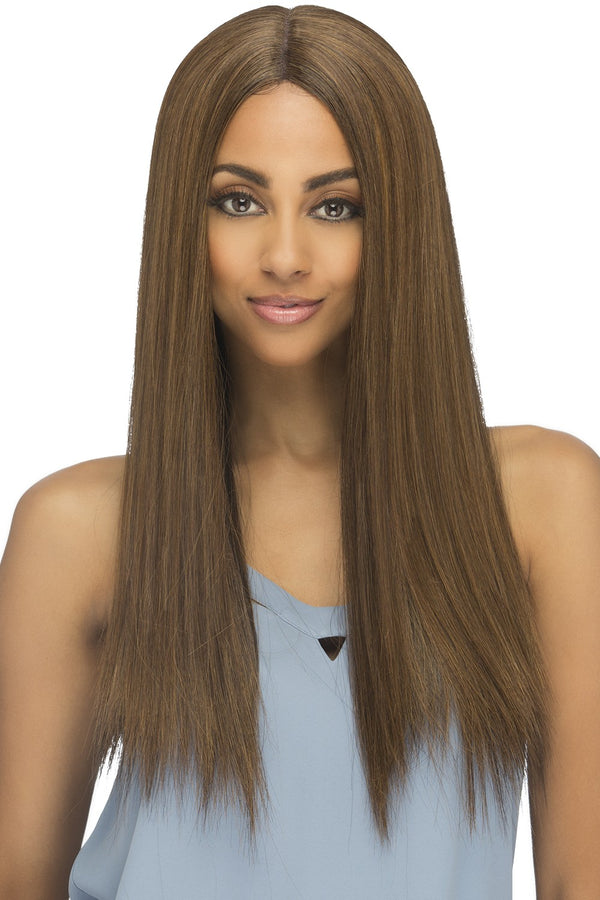 "Vivica A Fox  5"" Deep Part Synthetic Swiss Lace Front Wig - HAVANA"