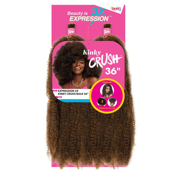 Janet Collection Expression 3X KINKY CRUSH BULK 36""