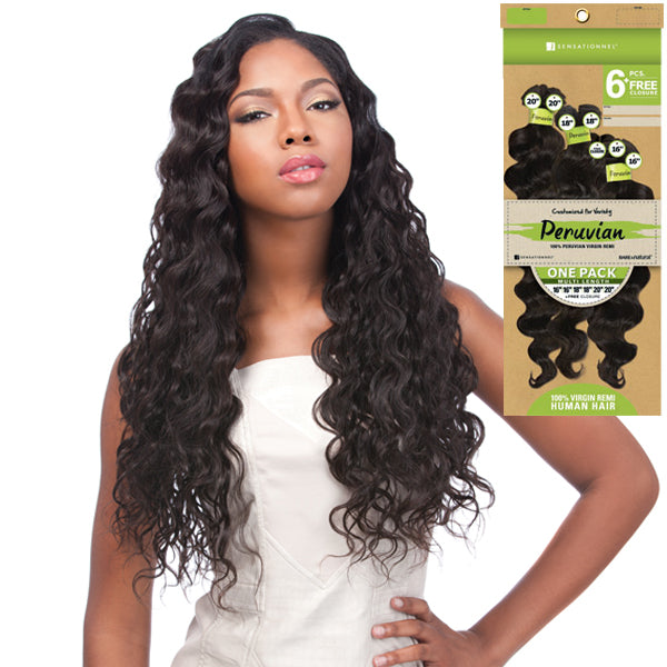 Sensationnel Virgin Remi Bundle Hair Bare & Natural - Peruvian Loose Deep 1PK