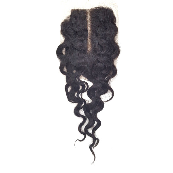 Lord & Cliff Unprocessed Virgin Hair Bleached Knots Deep Invisible Part Closure - TP CURL 18""