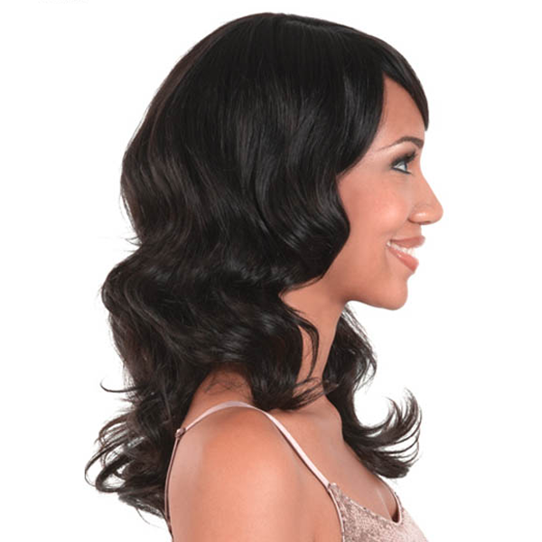 "Motown Tress 100% Indian Remy Wig Long Wavy OL17"" Hir - Rose"