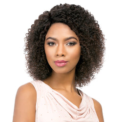 Sensationnel Brazilian Remi Bare & Natural L Part Lace Front Wig - NATURAL JERRY