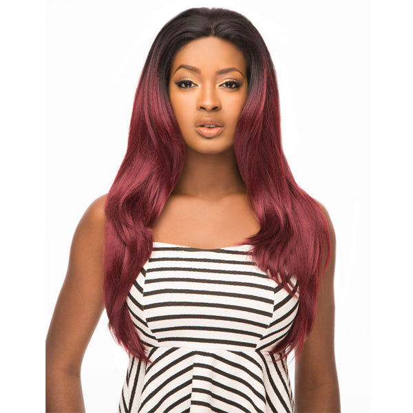 Hair Topic Brazilian Human Blend 13X2.5 Wide Swiss Lace Front Wig - 509