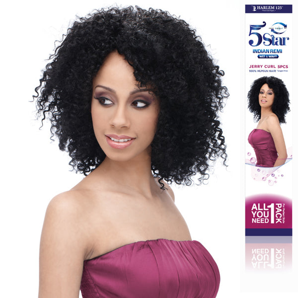 Harlem 125 5Star Indian Remi Wet & Wavy Jerry Curl 5pcs