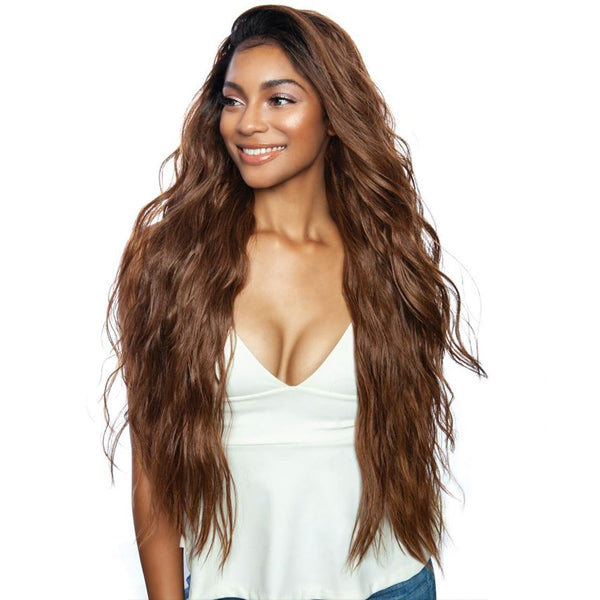 ISIS Mane Concept Brown Sugar Human Mix Lace Front Wig - BSN202 BRYCE