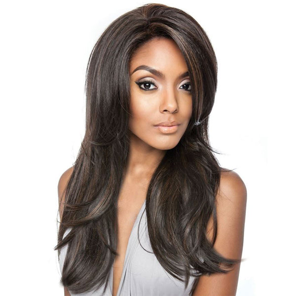 ISIS Brown Sugar Human Blend 13X4 Frontal Swiss Lace Front Wig - BSF01