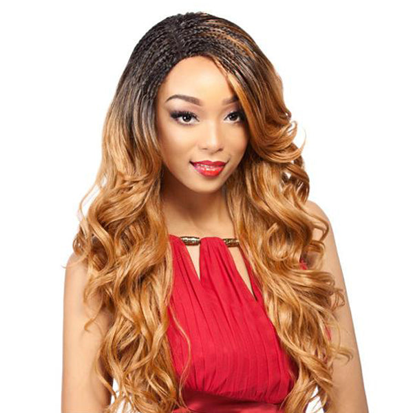 It's A Wig Synthetic Braided Lace Front Wig - LACE INVISIBLE BRAID - WAVY
