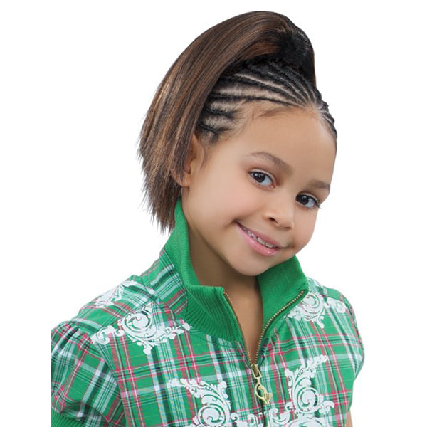 Sensual Pretty Girl Kids Drawstring Ponytail - Emerald