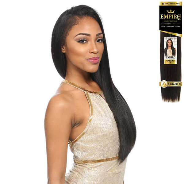 Sensationnel EMPIRE 100% Human Hair Weave - YAKI BOGO 12INCH (BUY1 GET1 FREE-1&1B ONLY)