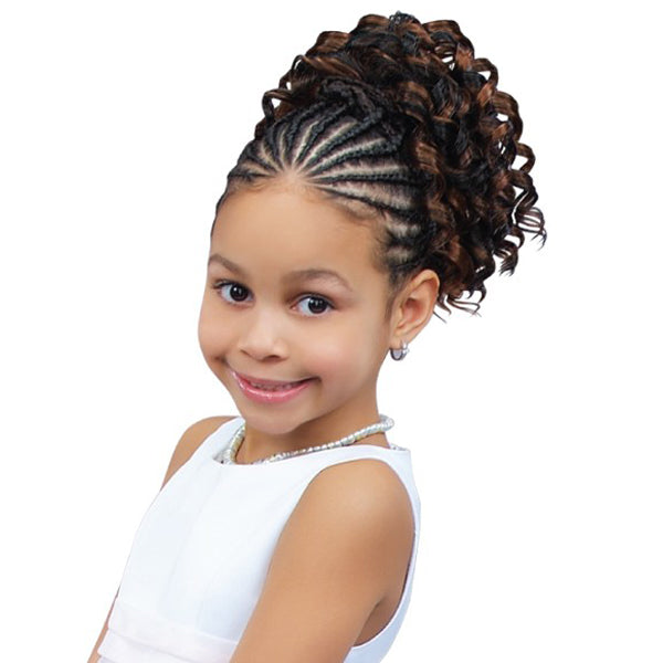 Sensual Pretty Girl Kids Drawstring Ponytail - Opal